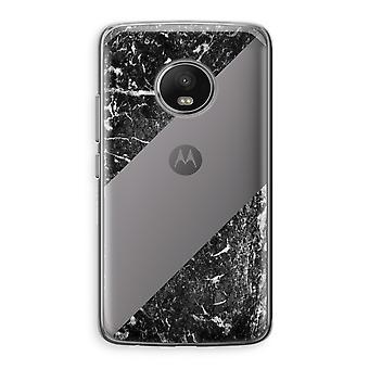 Motorola Moto G5 boîtier Transparent (doux) - marbre noir