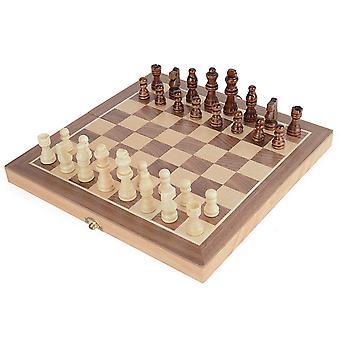 Toyrific træ sammenklappelige træ skak rejse sæt