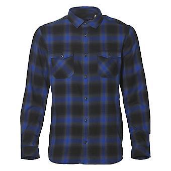 ONeill Violator camisa de manga larga de franela en negro Aop W / azul