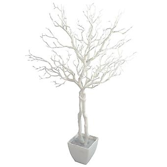 95cm Deluxe Artificial White Plastic Twig Wishing Tree Manzanita Plant