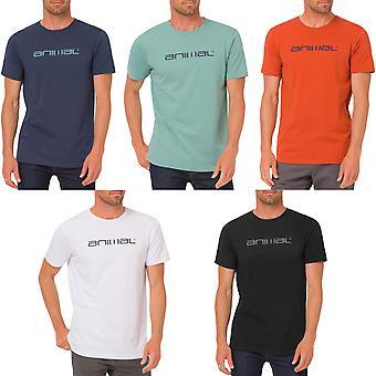 動物メンズ クラシコ ロゴ グラフィック半袖クルーネック t シャツ t シャツ トップ