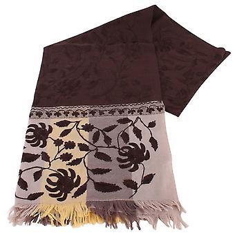 Sciarpa lana fiore grande Bassin e Redwood marrone - Brown/Beige/fulvo