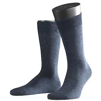 Falke-Melange Swing Midcalf Socken - dunkelblau