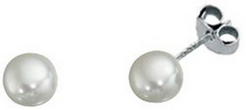 Beginnings Freshwater Pearl Small Stud Earrings - White/Silver