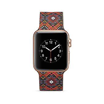 Siliconen horlogebandje voor Apple Watch 4 40mm, 3/2/1 38mm-unieke bloemen