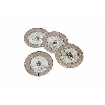 CGB Giftware Dusky Dandelion Round Glass Coasters (Set Of 4)