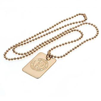 Chelsea FC Gold Plated Dog Tag And Chain