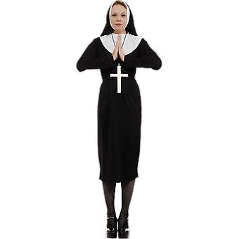 Orion Costumes Womens Black Nun Gown Religious Sister Act Fancy Dress Costume