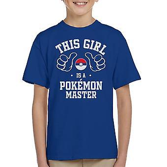 Tämä tyttö on Pokemon Master Lasten t-paita
