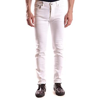 Daniele Alessandrini Ezbc107141 Men's White Cotton Jeans
