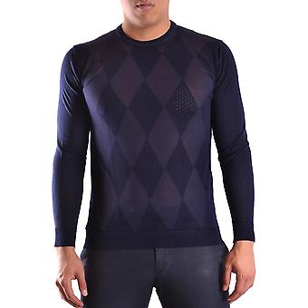 Daniele Alessandrini Ezbc107114 Men's Blue Cotton Sweater