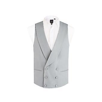 Dobell miesten Dove Grey Morning puku häät liivit regular fit huivi käänne kaksinkertainen rinnakkaisryhmitelmällä
