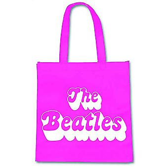 The Beatles Tote Bag Eco Shopper Bag 1970s Band Logo new Official Pink