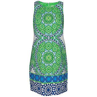 London Times Kaleidoscope Print Sleeveless Sun Dress