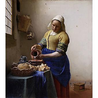 החלבנית, יאן ורמר ואן דלפט, 46 x 41cm
