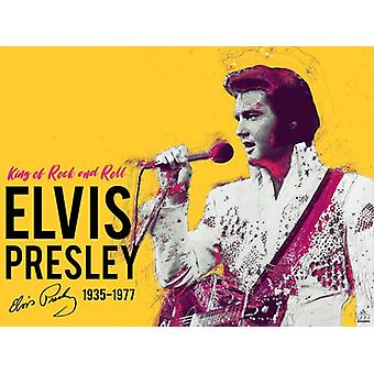 Elvis Presley Poster King Of Rock And Roll Music Art Print (24x18)