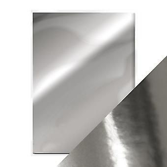 Craft Perfect a4 høyglanset speil kort Chrome Silver tonic Studios