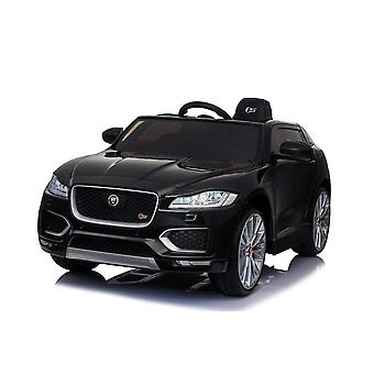 Licensed Jaguar F Pace 12V Kids Electric Ride On Car Black