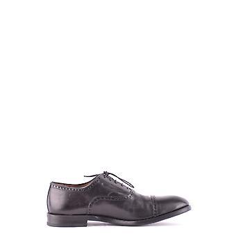 Migliore Ezbc323001 Men's Black Leather Lace-up Shoes