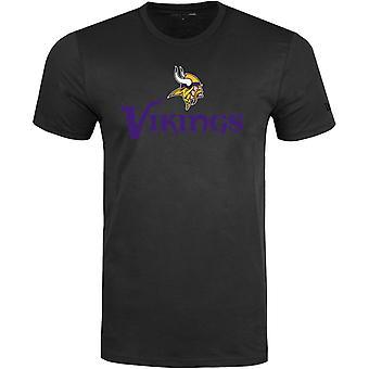 New Era STACK LOGO Shirt - NFL Minnesota Vikings black