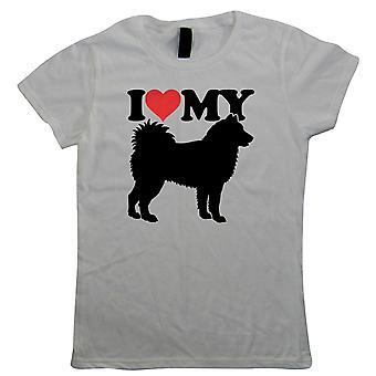 I Love My Siberian Husky naisten T-paita-koirat lahja hänen MUM