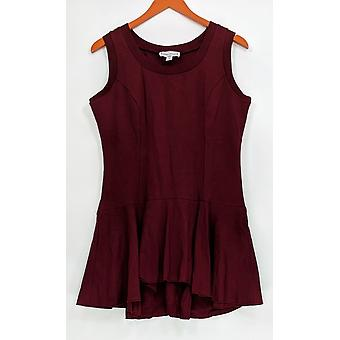 Kathleen Kirkwood Women's Top Flirty No-Peplum Peplum Wine Red A311147