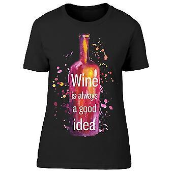 Abstrakt vin bra idé tee kvinnor ' s-bild av Shutterstock