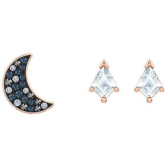 Swarovski Symbolic Pierced Earrings Set - Multi-colored - Rose-gold Tone Plated
