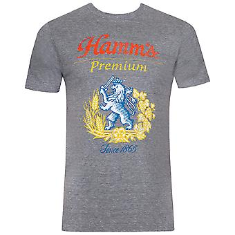 Hamm's Lion Logo Grey Tee Shirt