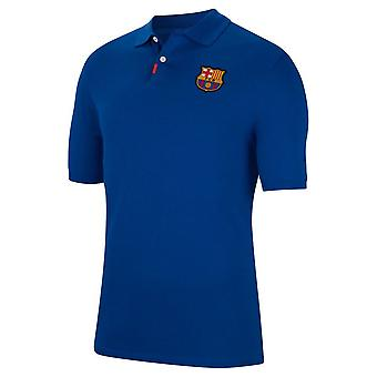 2019-2020 Barcelona Nike Authentic Polo Shirt (Königlich)