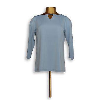 Joan Rivers Classics coleção mulheres ' s Top malha Keyhole azul A302756