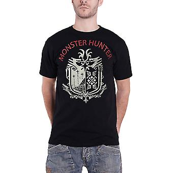 Monster Hunter T Shirt Research Logo nouveau noir officiel homme