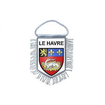 Fanion Mini Drapeau Pays Voiture Decoration Souvenir Blason France Le Havre