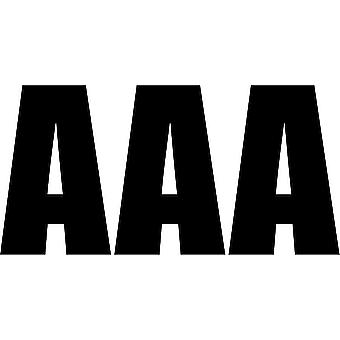 Set 3X Sticker Sticker Door Car Motorcycle Alphabet Box Letter Name Black A