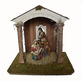 Nativity scene Christmas crib Crib crib JOSIAS handmade from Bavaria WITH 25 cm figures