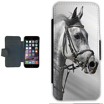 Grey Horse iPhone 6 wallet case case Picture wallet shell