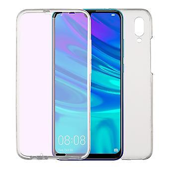 Huawei P Smart 2019 zaak Case 360 telefoon bescherming gevaldekking van volledige TPU Case transparant