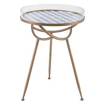 """19.7"""" X 19.7"""" X 27.6"""" Gold Metal Round Table"""