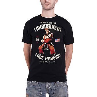 Tekken T Shirt Paul Phoenix King of Iron Fist new Official Retro Mens Black