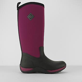 Muck Boots Arctic Adventure Ladies Rubber Wellington Boots Black/maroon