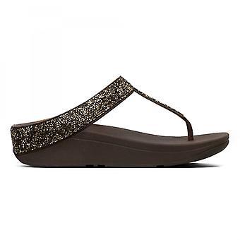 FitFlop Fino kvarts damer tå post sandaler guld
