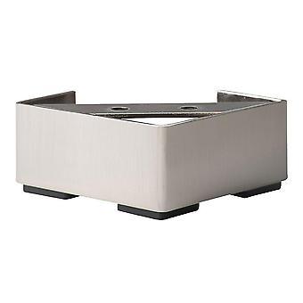 STAINLESS Steel négyzetek bútor láb 4,5 cm