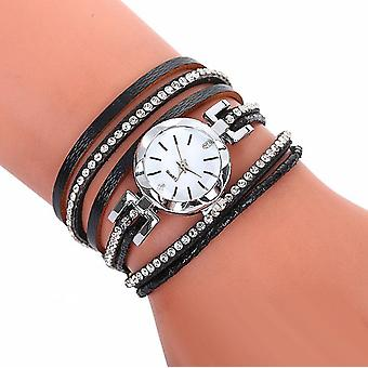 Diamante wrap layered watch