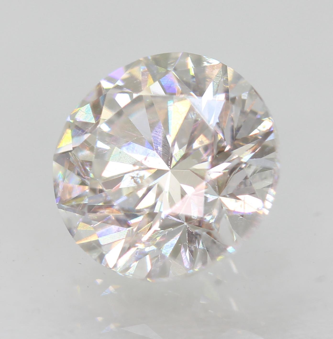 Certified 1.01 Carat E VS2 Round Brilliant Enhanced Natural Loose Diamond 6.25mm
