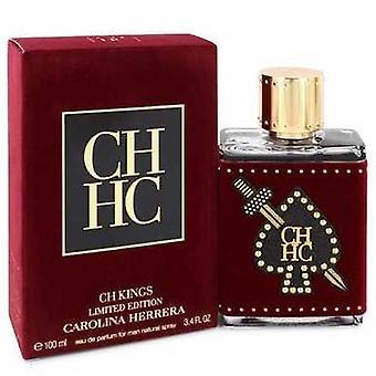 Ch Kings de Carolina Herrera Eau De Parfum Spray (bouteille d'édition limitée) 3,4 Oz (hommes) V728-547146
