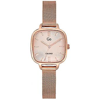 Watch Go Girl alleen 695248-staal dor Rose Milanese Dial Carr vrouwen