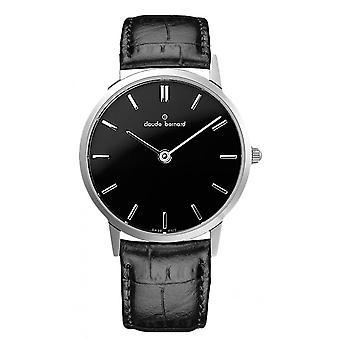 Watch Switzerland Claude Bernard 20060 3 NIN - watch man Black Dial Leather