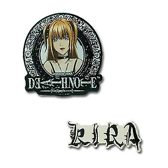 Pin Set - Death Note - New Misa & Kira (Set of 2) Toys Gifts Anime ge7430