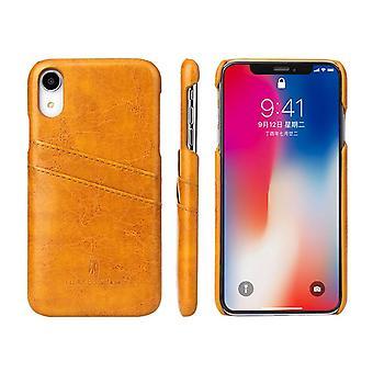 Keltainen Deluxe Nahka iPhone XR tapauksessa