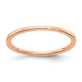 10kr 1.2mm Flat Stackable Band Ring Jewelry Gifts for Women - Ring Size: 4.5 to 10